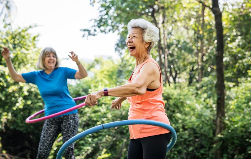 Senior Ladies Exercising